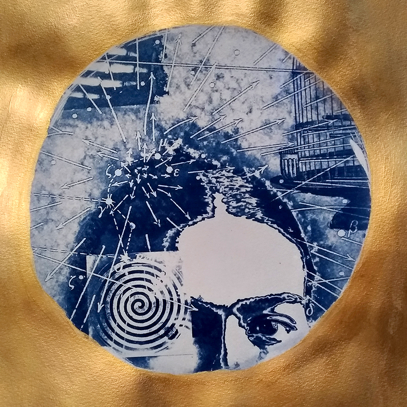 Frida Gold Cyanotype