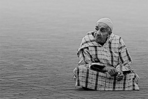 Le vieil homme de Marrakech copie